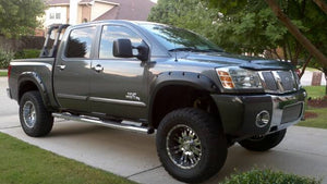 2004-2014 Nissan Titan (without Bedside Lockbox) Painted to Match Painted Flare Set - Bolt Style