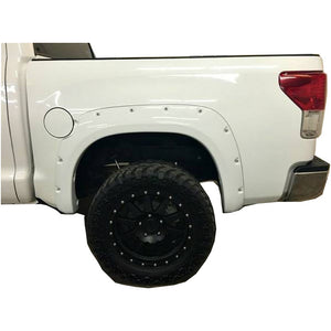 2007-2013 Toyota Tundra Painted to Match Fender Flare Set (Front Short) - Bolt Style (Pocket Style)