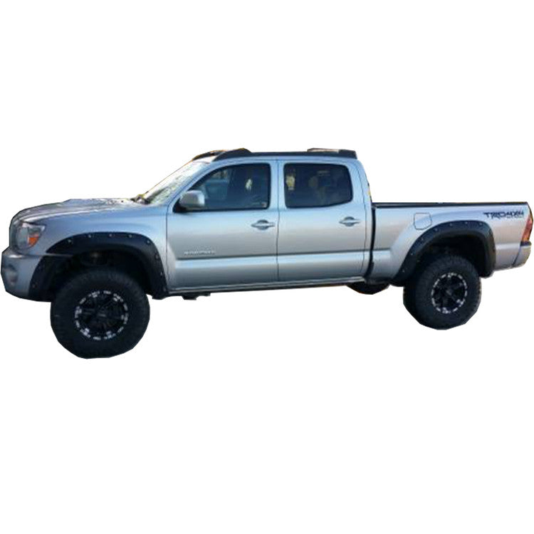 "2005-2011 Toyota Tacoma 73.5"" Bed - Painted to Match Fender Flare Set - Bolt Style (Pocket Style)"