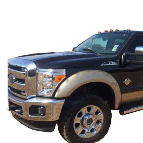 2011-2015 Ford F-250/350 Super Duty Fender Flare Set - Smooth Extension Style
