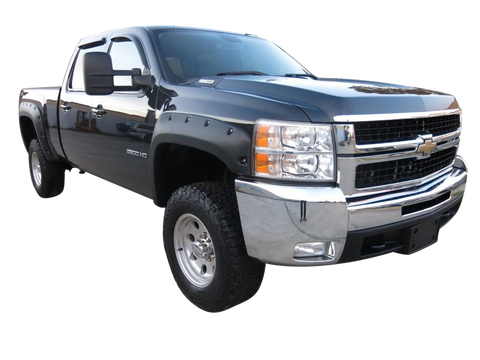 2007-2013 Chevrolet Silverado 1500 6.5' and 8.0' Fender Flare Set - Bolt Style (Pocket Style)