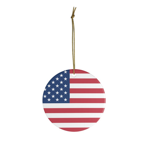 USA Ceramic Christmas Ornament