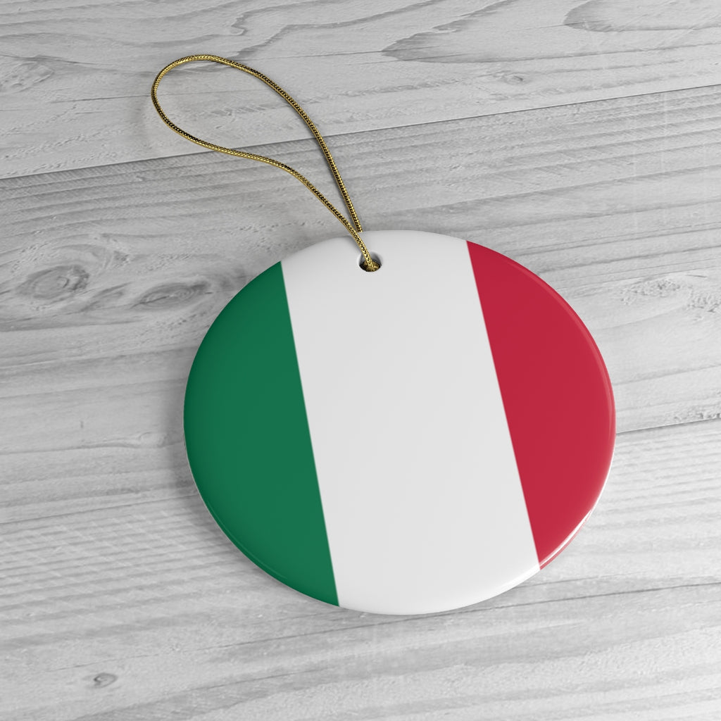 Italy Ceramic Christmas Ornament