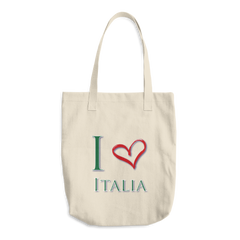I Love Italia Cotton Tote Bag
