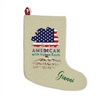 Image of American with Italian Roots Christmas Stocking with Optional Personalization