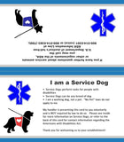 25 Service Dog Information Cards