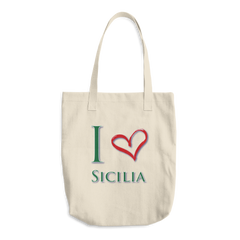 I Love Sicilia Cotton Tote Bag