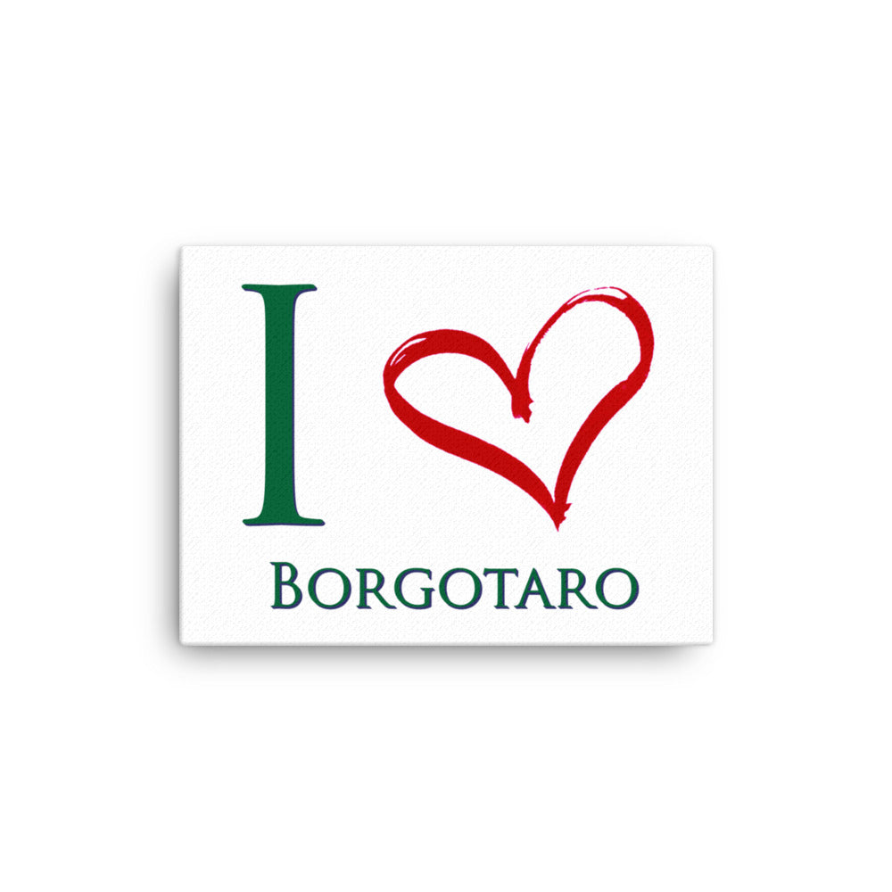 I Love Borgotaro Canvas