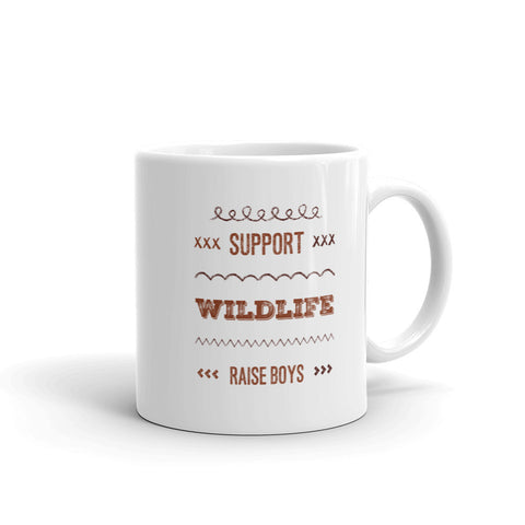 Support Wildlife - Raise Boys Mug