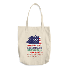 American with Italian Roots Split Tree Cotton Tote Bag