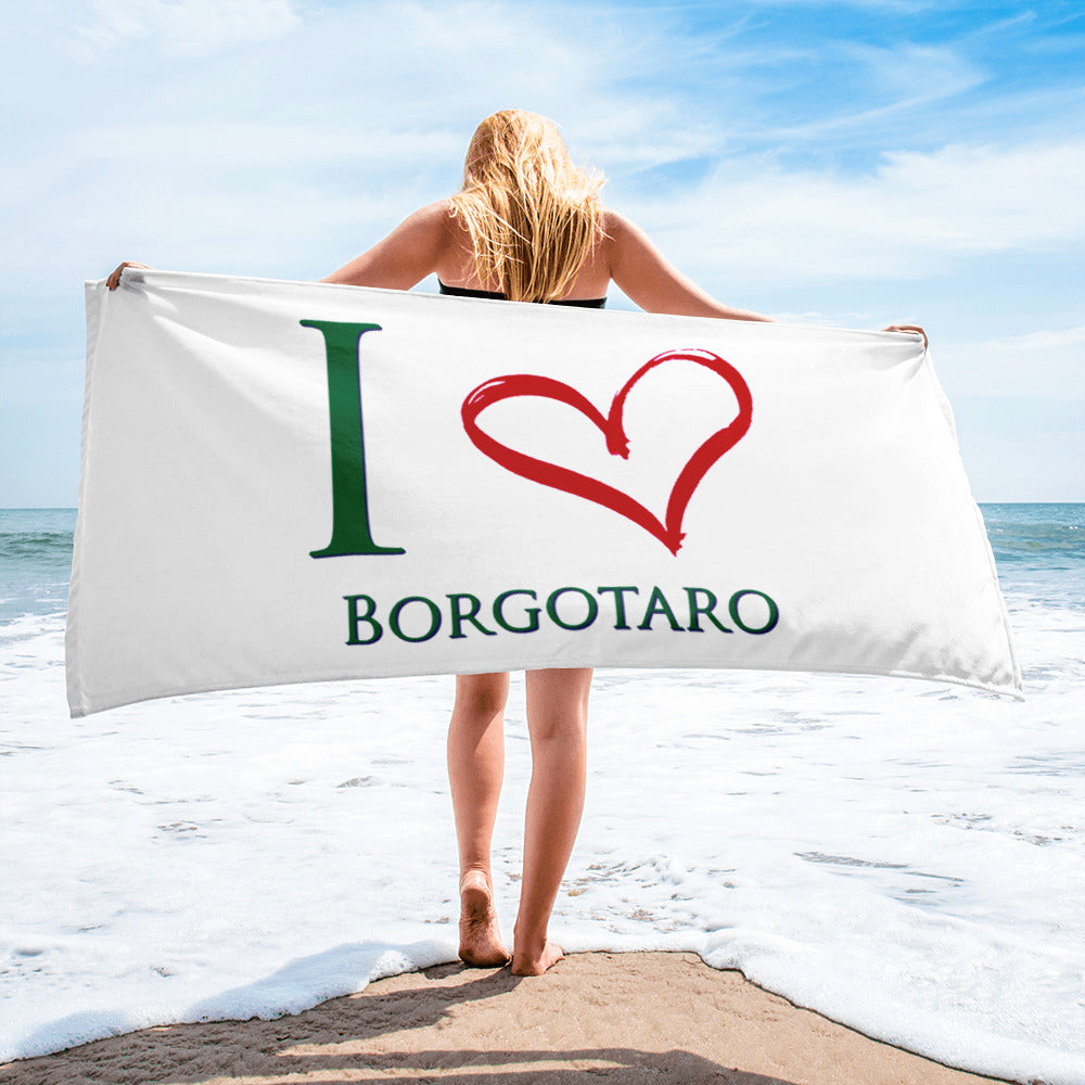 I Love Borgotaro Towel