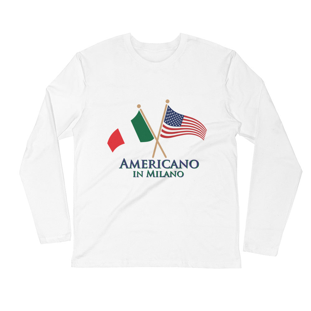 Americano in Milano Long Sleeve Fitted Crew