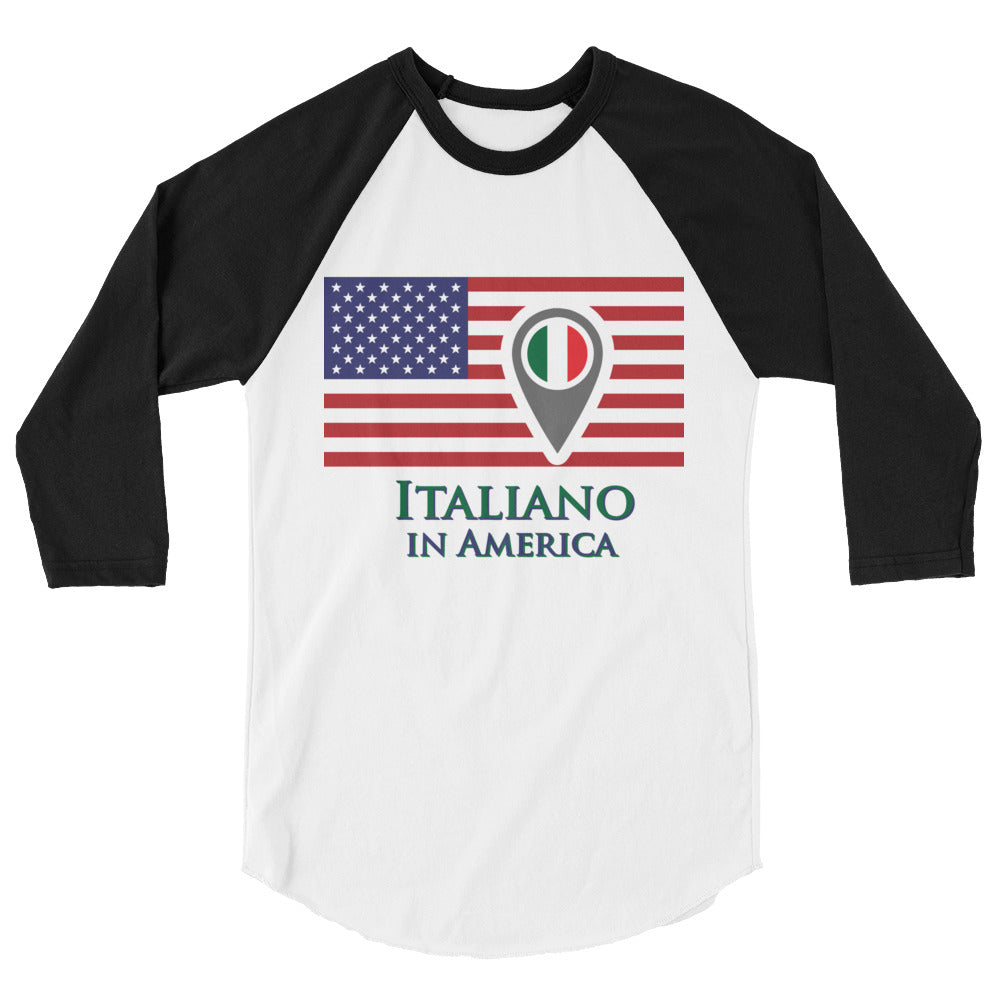 Italiano in America Men's 3/4 sleeve raglan shirt