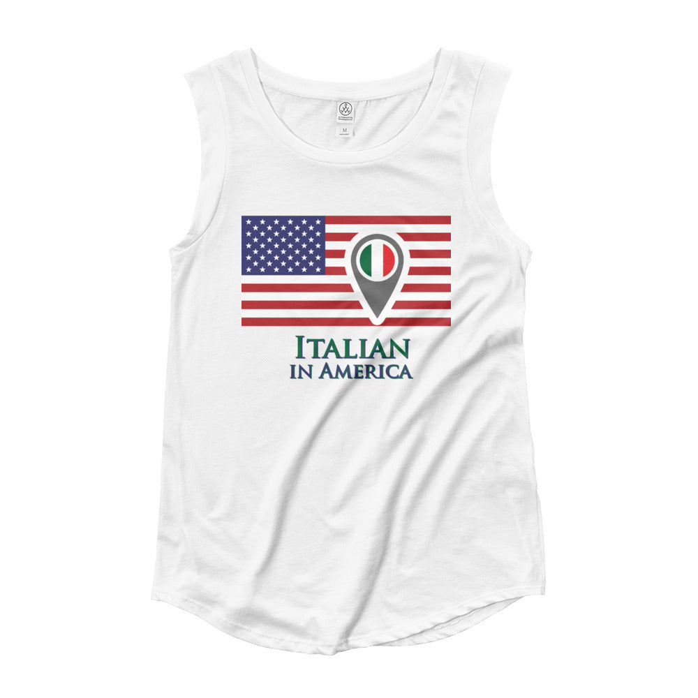 Italian in America Ladies' Cap Sleeve T-Shirt