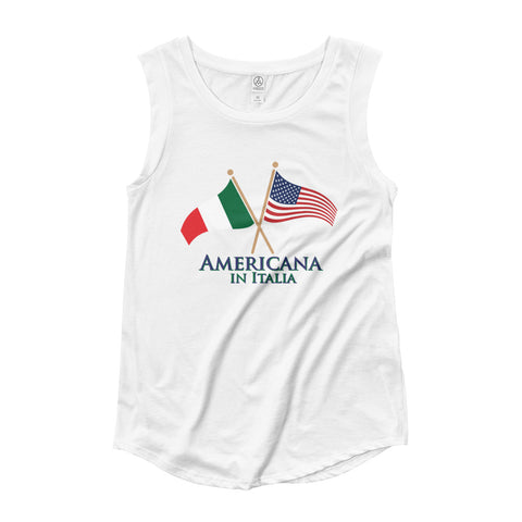 Americana in Italia Ladies' Cap Sleeve T-Shirt
