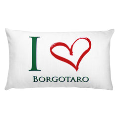 I Love Borgotaro Rectangular Pillow