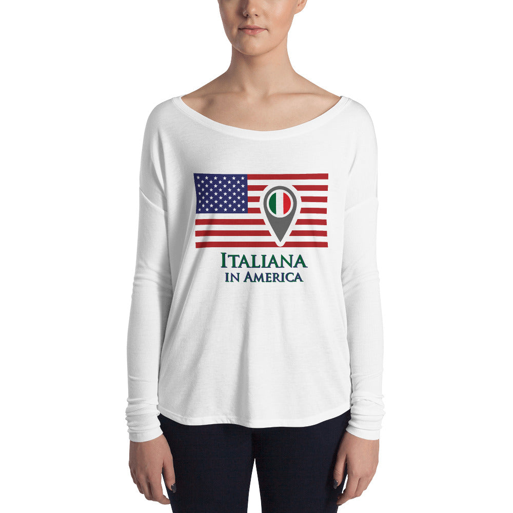 Italiana in America Ladies' Long Sleeve Tee