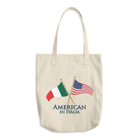 American in Italia Cotton Tote Bag