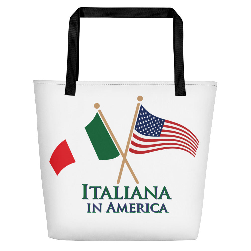 Italiana in America Beach Bag