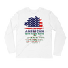 Image of American with Italian Roots Style 1 Unisex Long Sleeve Fitted Crew
