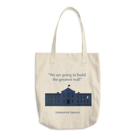 Greatest Wall - Superlative Designs Cotton Tote Bag