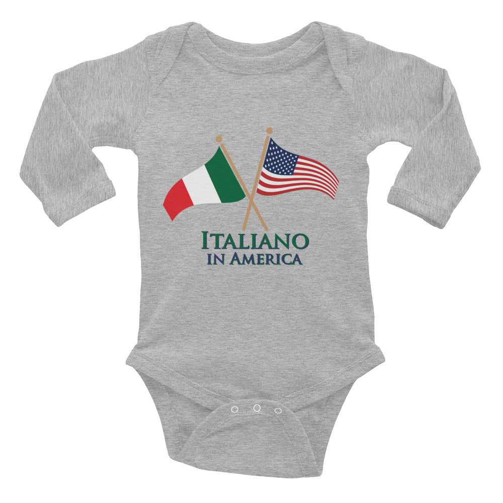 Italiano in American Infant Long Sleeve Bodysuit