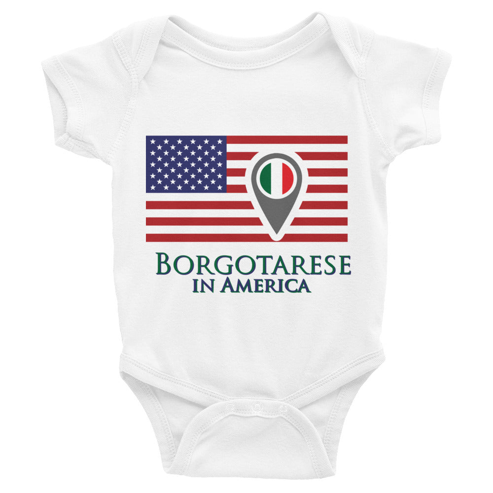 Borgotarese in America Infant Bodysuit