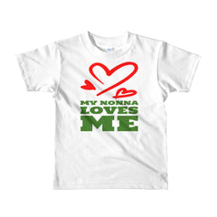 My Nonna Loves Me Short sleeve kids t-shirt