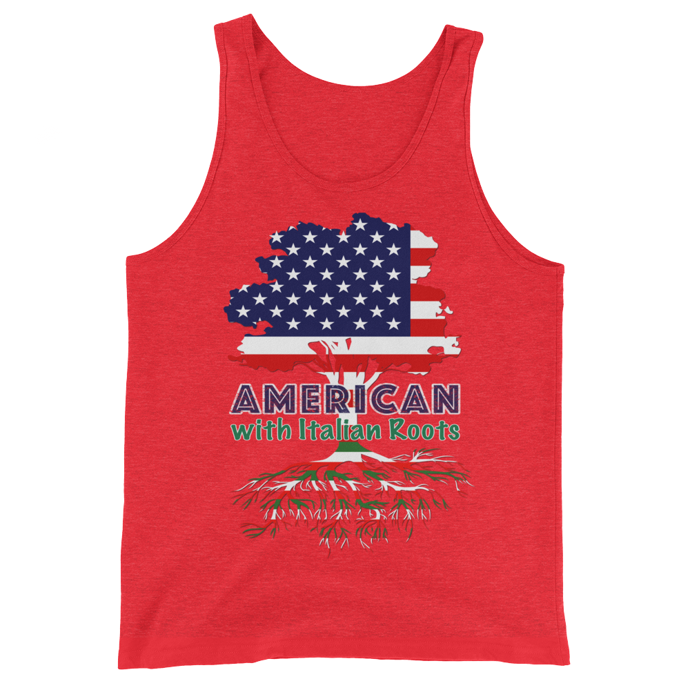 American with Italian Roots Style 1 Unisex Tank Top