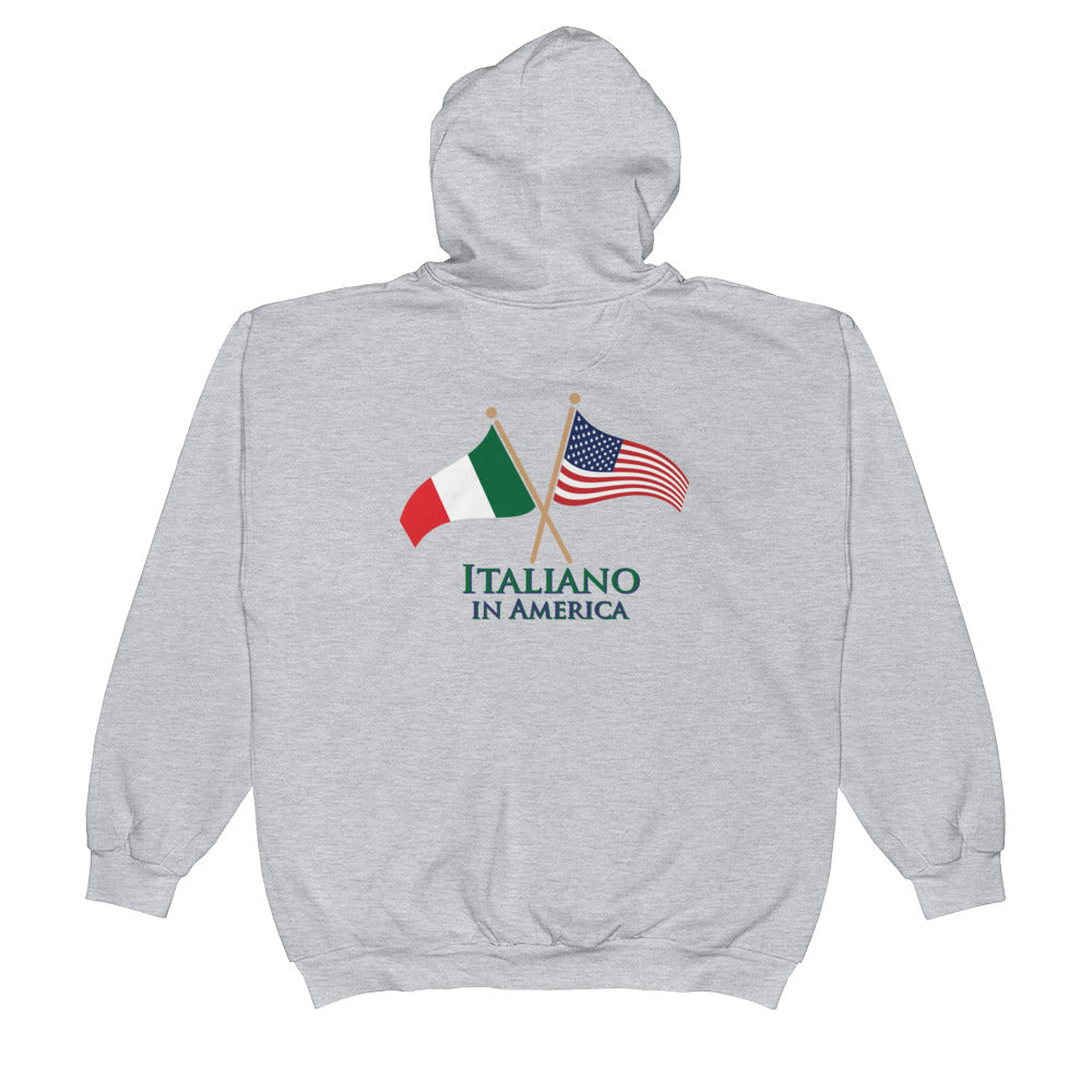 Italiano in America Men's Zip Hoodie