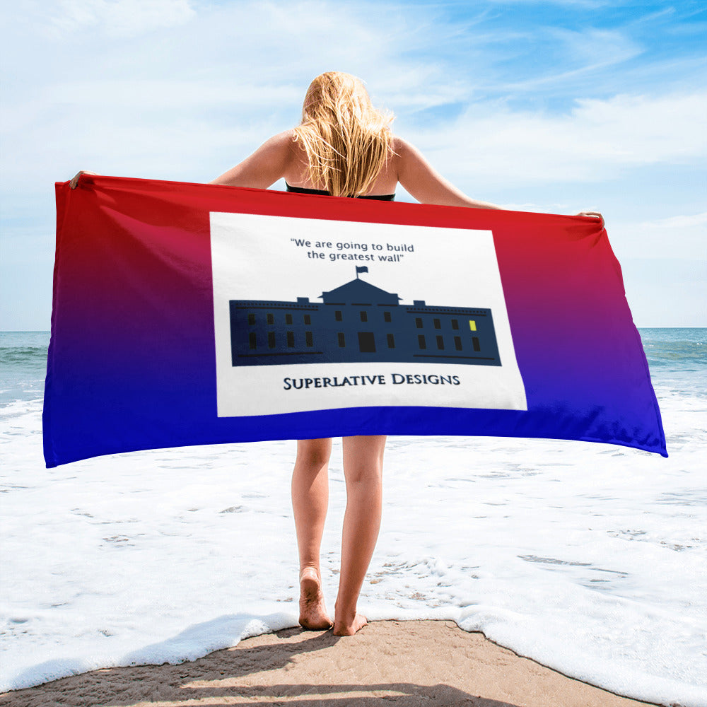 Greatest Wall - Superlative Designs Beach Towel