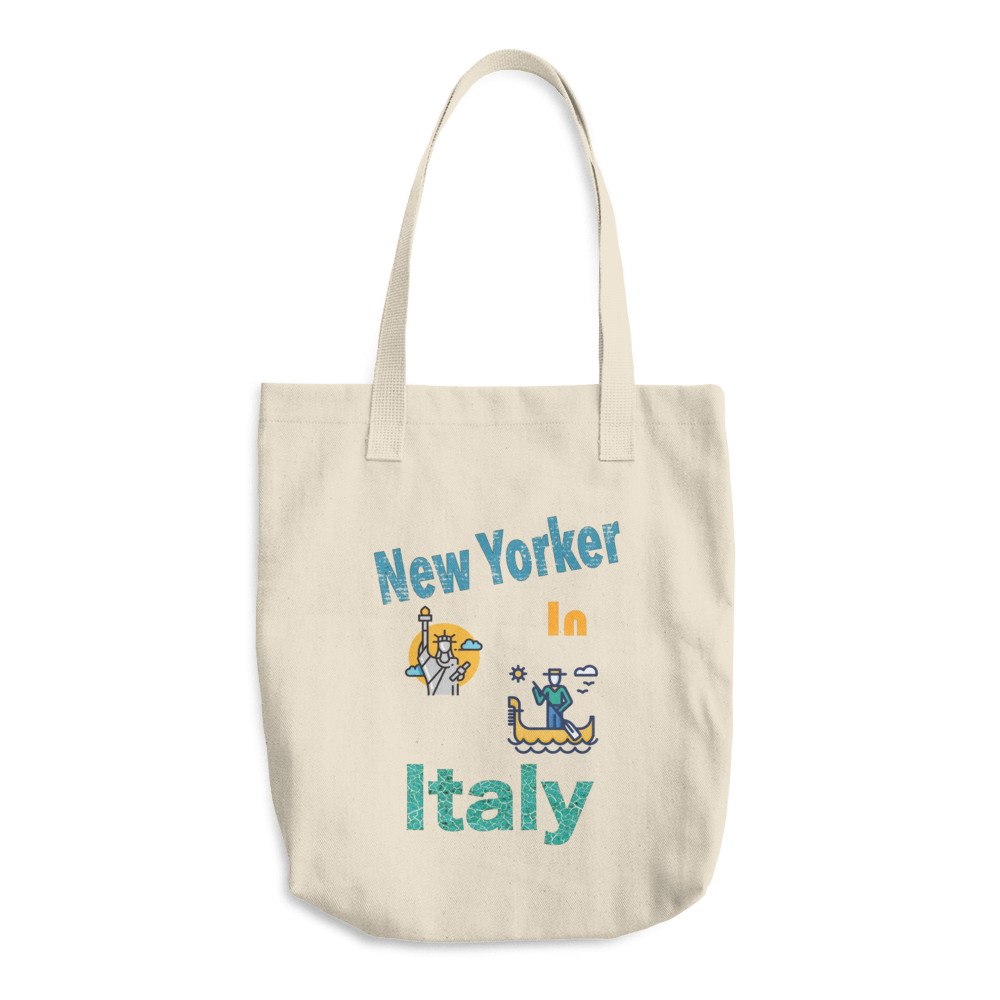 New Yorker in Italy Cotton Tote Bag