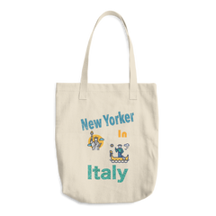 Image of New Yorker in Italy Cotton Tote Bag