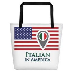 Italian in America Check In Beach Bag