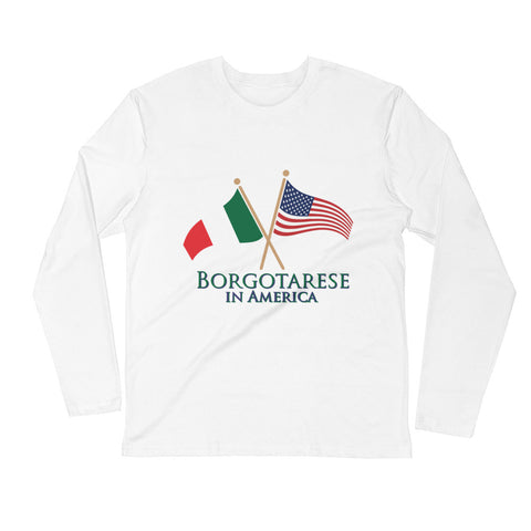 Borgotarese in America Long Sleeve Fitted Crew