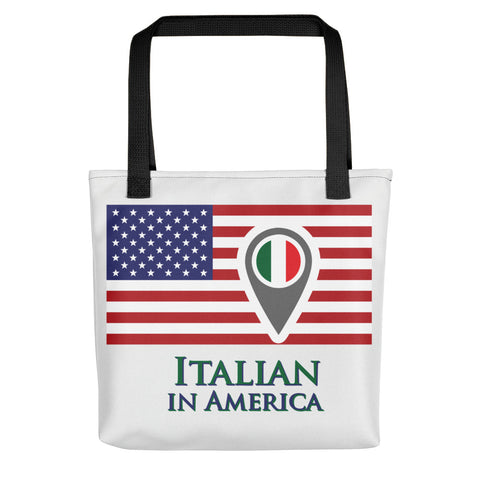 Italian in American Check In Tote bag