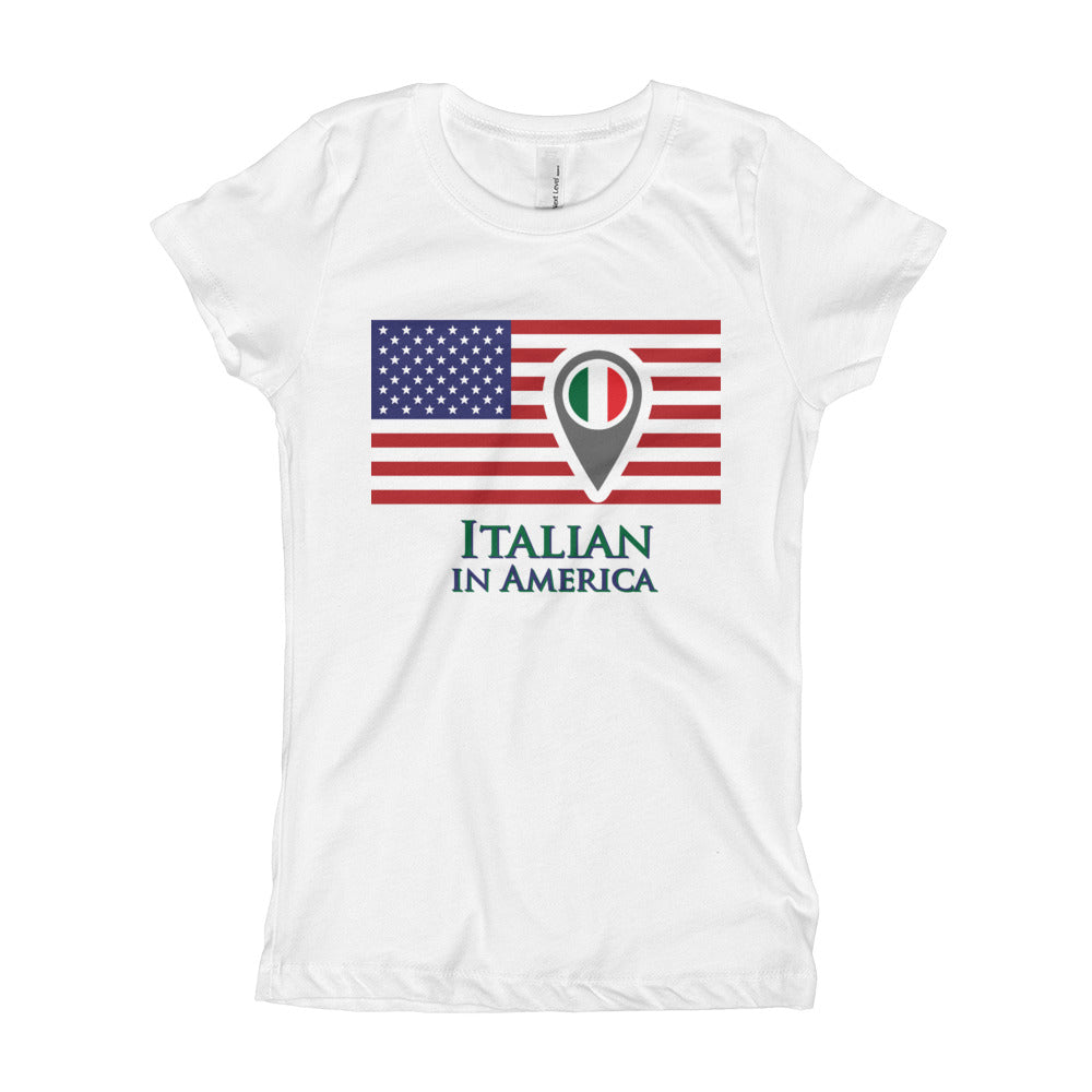 Italian in America Girl's Short Sleeve T-Shirt