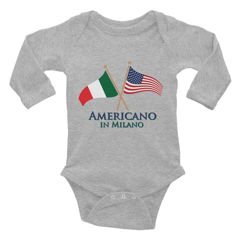 Americano in Milano Infant Long Sleeve Bodysuit