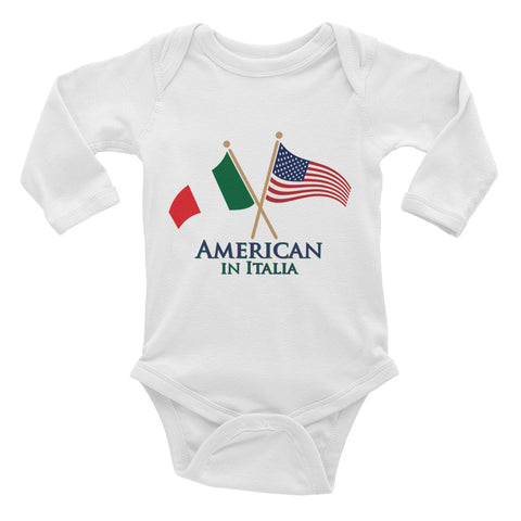 American in Italia Infant Long Sleeve Bodysuit