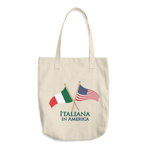 Italiana in America Cotton Tote Bag