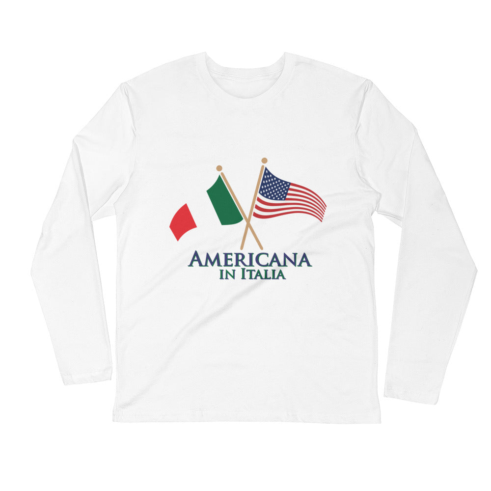 Americana in Italia Long Sleeve Fitted Crew
