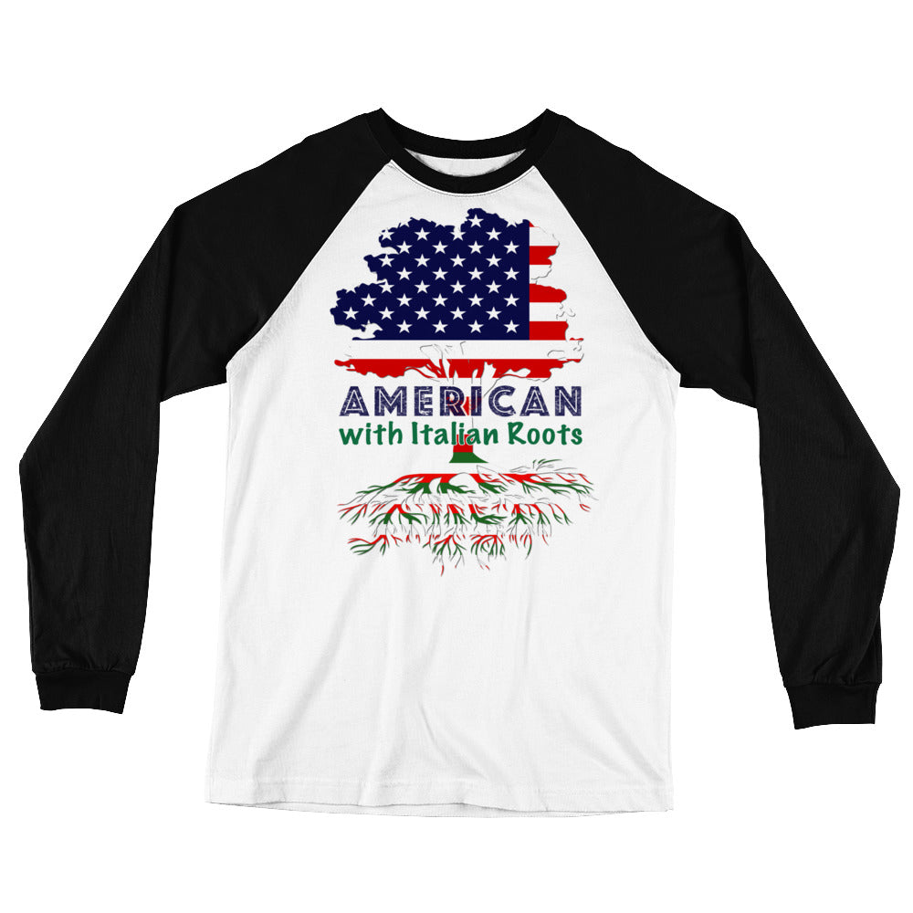 American with Italian Roots Unisex Style 1 Long Sleeve Baseball T-Shirt
