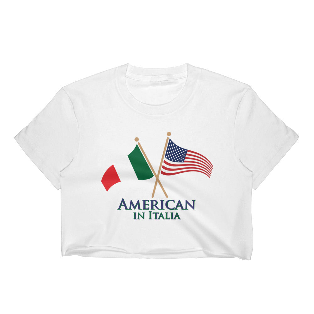 American in Italia Women's Crop Top