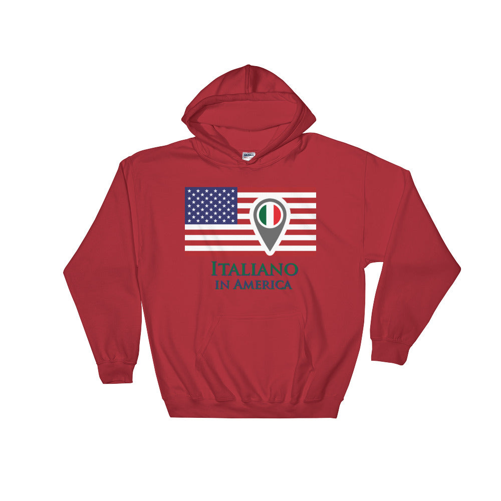 Italiano in America Check In Men's Hooded Sweatshirt