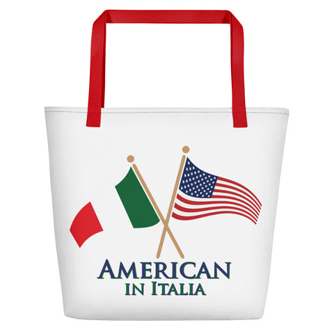 American in Italia Beach Bag