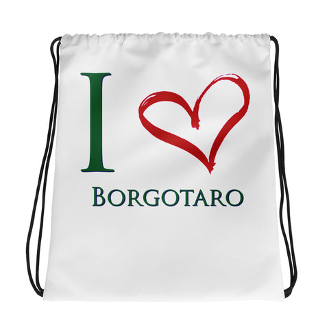 I Love Borgotaro Drawstring bag
