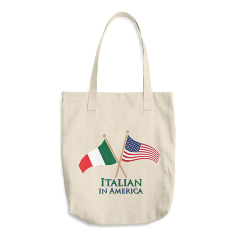 Italian in America Cotton Tote Bag