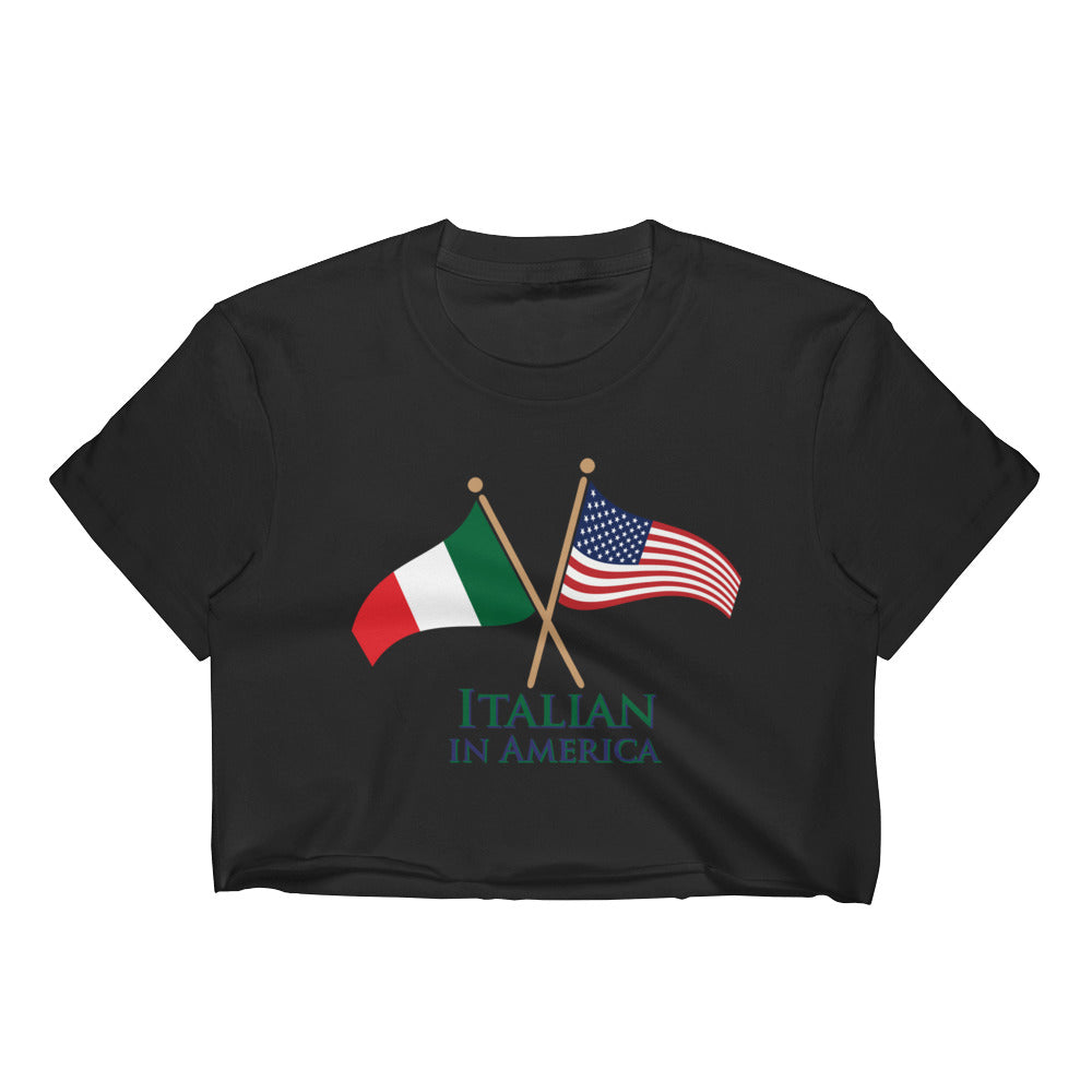 Italian in America Women's Crop Top