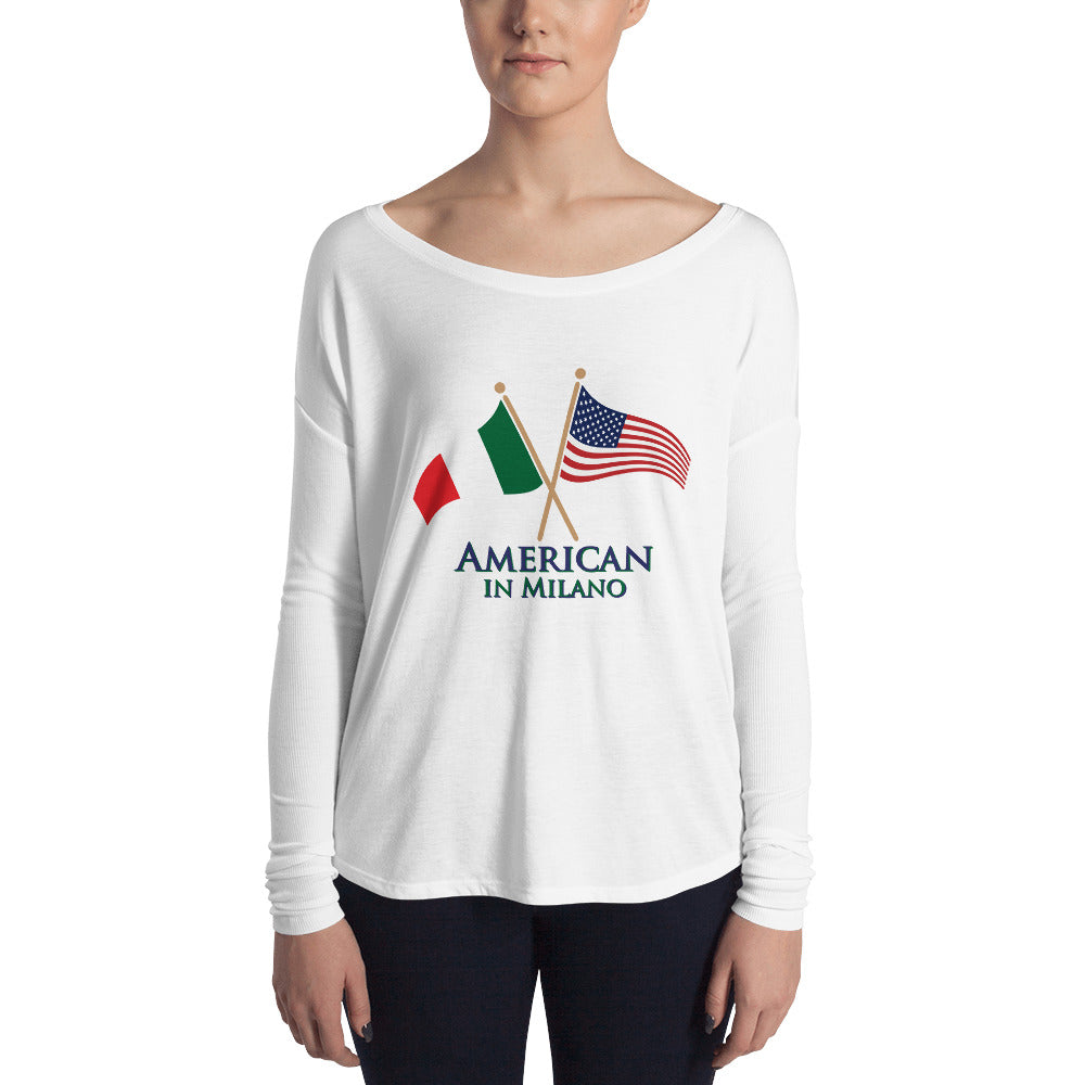 American in Milano Ladies' Long Sleeve Tee