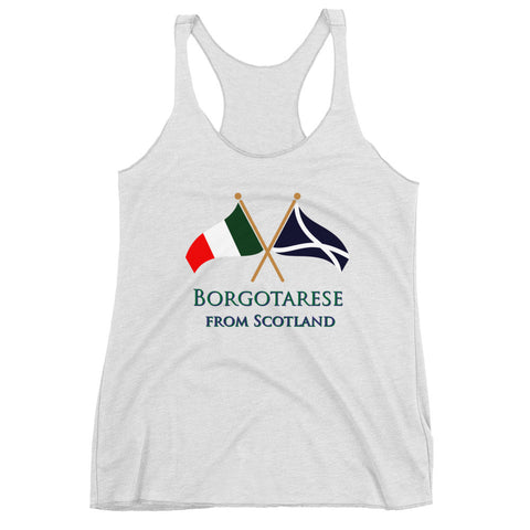 Borgotarese from Scotland Women's Racerback Tank